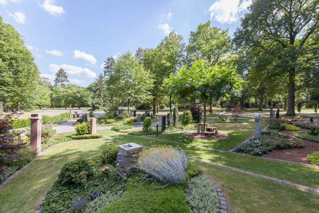 Der Memoriam-Garten auf dem Hauptfriedhof.